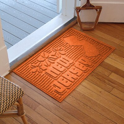 Aqua Shield New Jersey Doormat Color: Orange