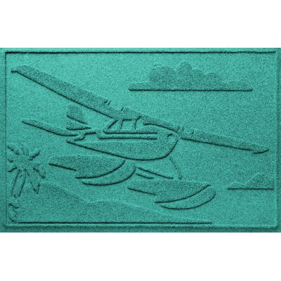 Aqua Shield Sea Plane Doormat Color: Aquamarine