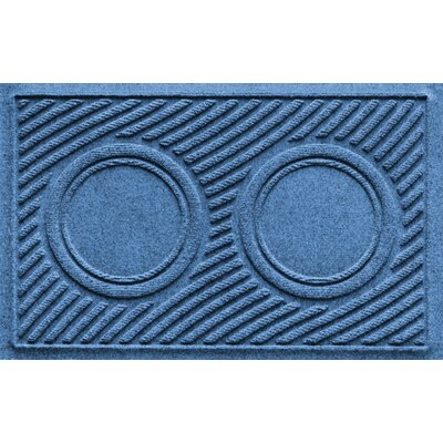 Aqua Shield Wave Pet Feeder Doormat Color: Medium Blue