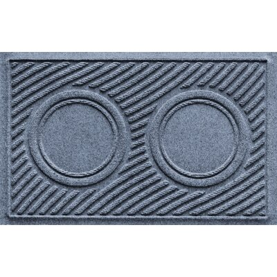 Aqua Shield Wave Pet Feeder Doormat Color: Bluestone