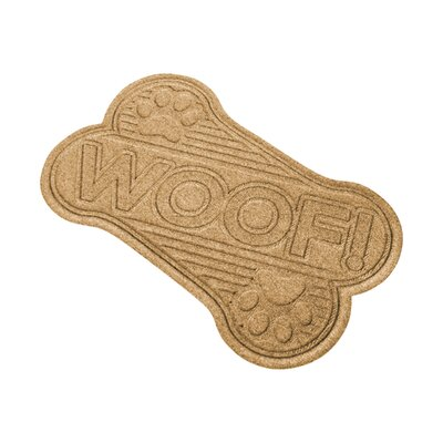 Aqua Shield Woof Doormat Color: Gold