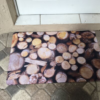 Fo Flor Stacked Logs Doormat Rug Size: 25 x 60