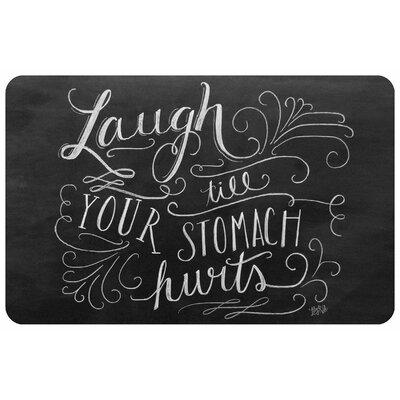 Laugh Till Chalkboard Doormat