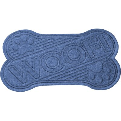 Aqua Shield Woof Doormat Color: Navy