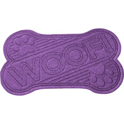 Aqua Shield Woof Doormat Color: Purple