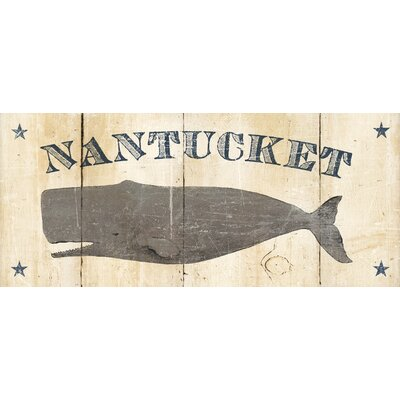 Nantucket Whale Kitchen Mat