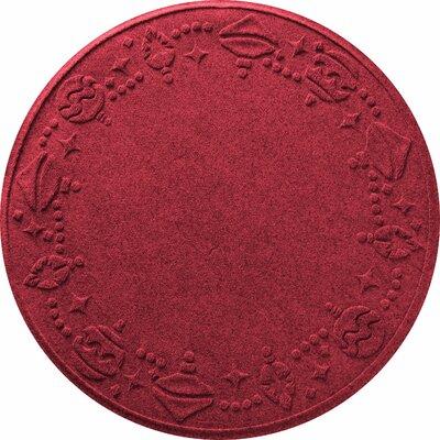 Ornaments Doormat Color: Red/Black