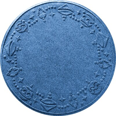 Ornaments Doormat Color: Medium Blue