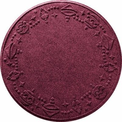 Ornaments Doormat Color: Bordeaux
