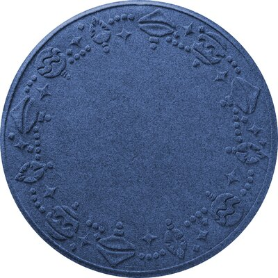 Ornaments Doormat Color: Navy
