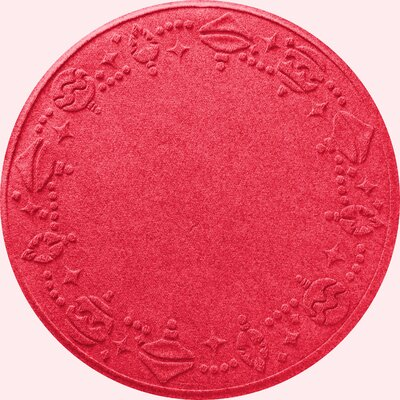 Ornaments Doormat Color: Solid Red