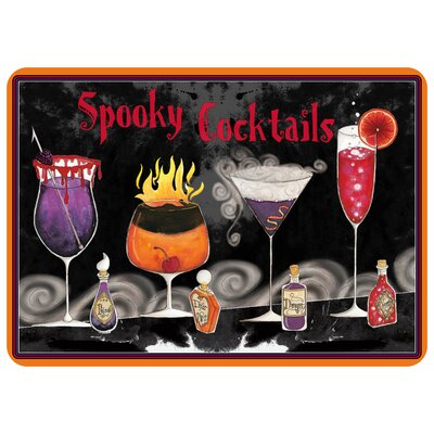 Spooky Cocktails Kitchen Mat
