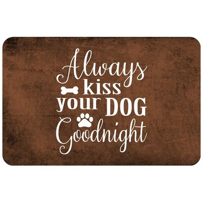 Always Kiss Your Dog Goodnight Doormat