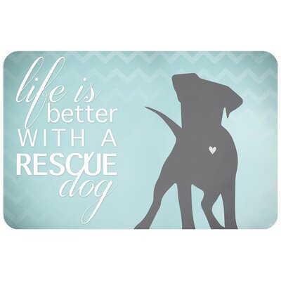 Better with a Rescue Dog Doormat