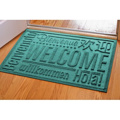 Aqua Shield World Wide Doormat Mat Size: Rectangle 2 x 3, Color: Aquamarine