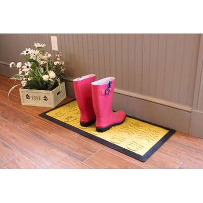 Aqua Shield Lug Sole Boot Tray Color: Yellow