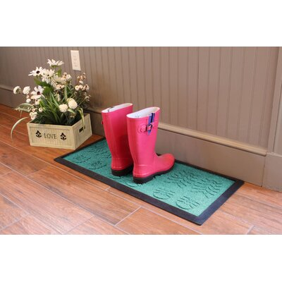 Aqua Shield Lug Sole Boot Tray Color: Aquamarine