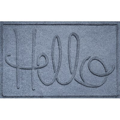 Aqua Shield Hello Doormat Color: Bluestone