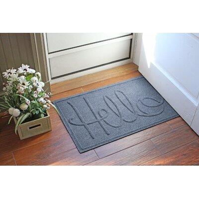 Aqua Shield Hello Doormat Color: Bluestone