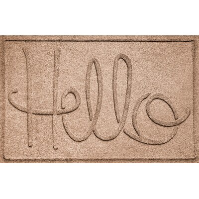 Aqua Shield Hello Doormat Color: Medium Brown