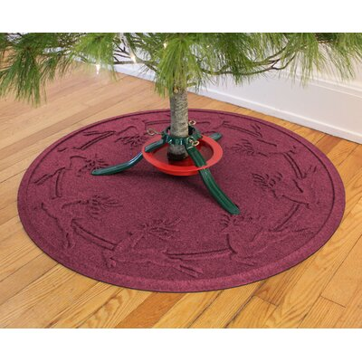 Aqua Shield Reindeer Run Christmas Tree Doormat Color: Bordeaux