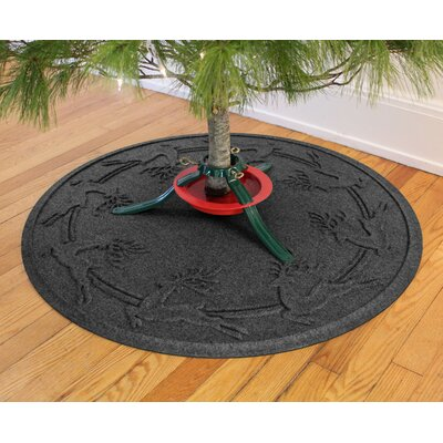 Aqua Shield Reindeer Run Christmas Tree Doormat Color: Charcoal