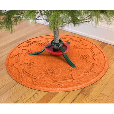 Aqua Shield Reindeer Run Christmas Tree Doormat Color: Orange