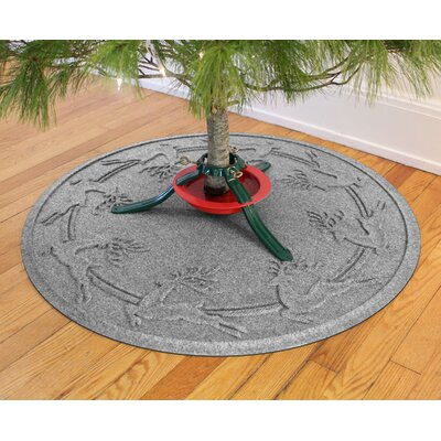 Aqua Shield Reindeer Run Christmas Tree Doormat Color: Medium Gray