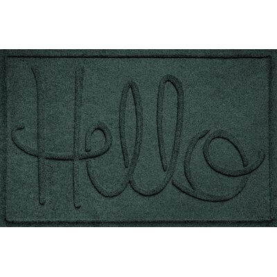Aqua Shield Hello Doormat Color: Evergreen