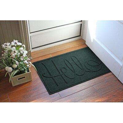 Aqua Shield Hello Doormat Color: Evergreen