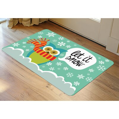 Let It Snow Owls Accent Doormat