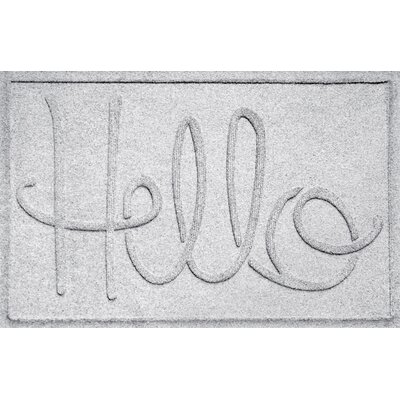 Aqua Shield Hello Doormat Color: White