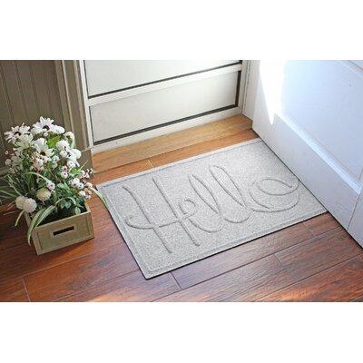 Aqua Shield Hello Doormat Color: White