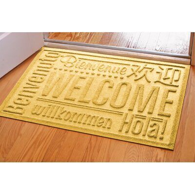 Aqua Shield World Wide Doormat Mat Size: Rectangle 2 x 3, Color: Yellow