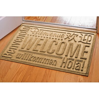 Aqua Shield World Wide Doormat Color: Gold, Rug Size: 2 x 3