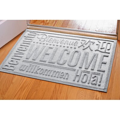 Aqua Shield World Wide Doormat Rug Size: 2 x 3, Color: White