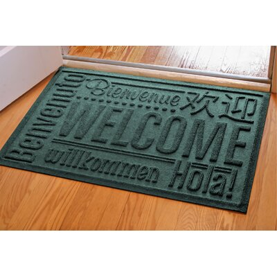 Aqua Shield World Wide Doormat Color: Evergreen, Rug Size: 2 x 3