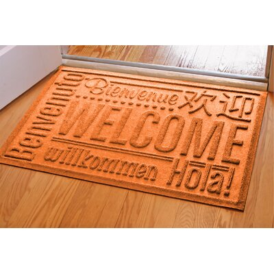 Aqua Shield World Wide Doormat Mat Size: Rectangle 2 x 3, Color: Orange