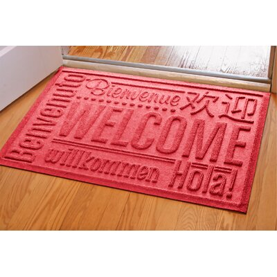 Aqua Shield World Wide Doormat Color: Red, Rug Size: Rectangle 2 x 3