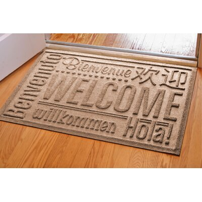Aqua Shield World Wide Doormat Rug Size: Rectangle 2 x 3, Color: Medium Brown