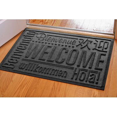Aqua Shield World Wide Doormat Color: Charcoal, Rug Size: 2 x 3