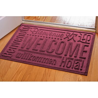 Aqua Shield World Wide Doormat Rug Size: Rectangle 2 x 3, Color: Bordeaux