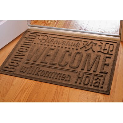 Aqua Shield World Wide Doormat Color: Medium Grey, Rug Size: 2 x 3