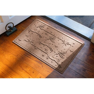 Aqua Shield Reindeer Row Doormat Color: Medium Brown