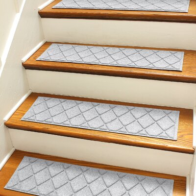 Aqua Shield Gray Argyle Stair Tread
