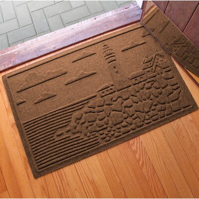 Aqua Shield Lighthouse Cove Doormat Color: Dark Brown