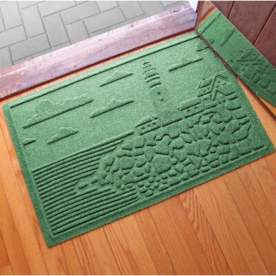 Aqua Shield Lighthouse Cove Doormat Color: Light Green