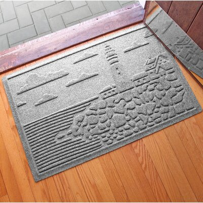 Aqua Shield Lighthouse Cove Doormat Color: Medium Gray