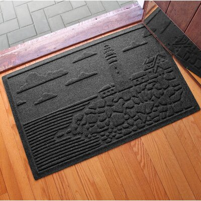 Aqua Shield Lighthouse Cove Doormat Color: Charcoal