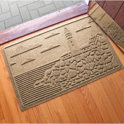 Aqua Shield Lighthouse Cove Doormat Color: Camel